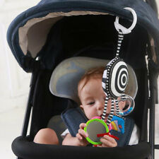 Infant Cloth Book Car Hanging Rattle Baby Bed Trailer Clip Toy Black White G