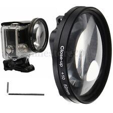 Black 52mm Close Up+10X Macro Camera Lens Filter Adapter for Gopro Hero 5 Camera