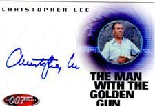 James Bond 40th Anniversary Autograph Card A9 Christopher Lee
