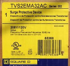 Square D Surgelogic TVSS Surge Protector, TVS2EMA32AC, 320 kA, 208Y/120 V, New