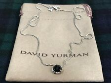 DAVID YURMAN Sterling Silver Chatelaine Pendant Necklace With Black Onyx / NWOT