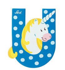 New SEVI TOYS Wooden Alphabet 'U' UNICORN Letter Toy