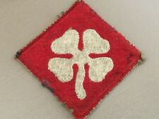 WW2 4th United States Army Military Cloth Patch