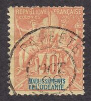 French Polynesia Scott #15 Used stamp 1892 sg# 10 France Colonies