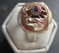 Elks Lodge 11 O'Clock BPOE Ring 14W Size 9 9.1 grams