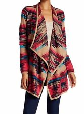 $129 NWT LUCKY BRAND WOMEN'S SCARF PATTERN DRAPE CARDIGAN MULTI COMBO SZ XL