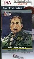 Bart Starr 1990 Pro Set Super Bowl Jsa Coa Hand Signed Authentic Autograph