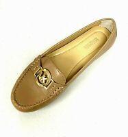 Women MK Michael Kors Molly Loafer Slip On Shoes/loafers Leather Dark Khaki