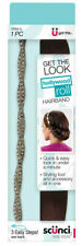 SCUNCI Hollywood Roll Rollable Styling Hairband For Quick And Easy Look 1 Pack
