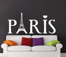 Eiffel Tower Wall Decal Vinyl Sticker Decals Paris Silhouette France Decor X102