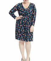 Leota Plus Size Charlotte Cascade Print Jersey Fit And Flare Dress 4L (4X)
