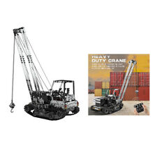 DIY RC Tracked Crane Model Building Toy 10 Channels Model Birthday Gifts