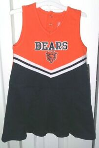 Toddler Girls NFL Chicago Bears Cheerleader Dress With Bloomers Size 3T NWT