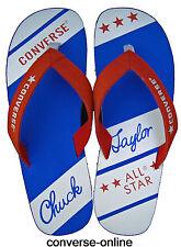 Femmes Garçon Converse All Star Chuck Taylor Bleu Rouge Sandales FLIP FLOP TAILLE UK 3 36