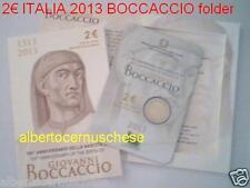 folder 2 euro fdc 2013 ITALIA 700 BOCCACCIO Italie Italy Italien Италия