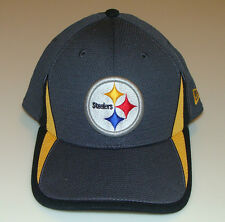 New Era Hat Cap Football Pittsburgh Steelers M/L 39thirty 2013 Training Graphite