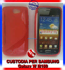 Pellicola+Custodia cover case WAVE ROSSA per Samsung Galaxy W I8150