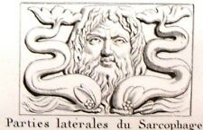 """""""Musee des Antiques"""" Eng-c1811- BAS-RELIEF ON SEPULCRAL"""
