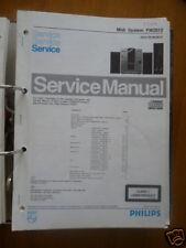 manuels de réparation pour Philips FW 2012 SYSTÈME HI-FI, original