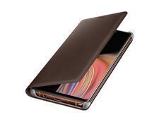 Genuine Official Samsung Galaxy Note 9 Flip Wallet Leather Case Cover- Brown