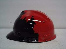 NEW  Safety Works  Black and Red Canadian Maple Leaf Pattern Hard Hat LAST ONE