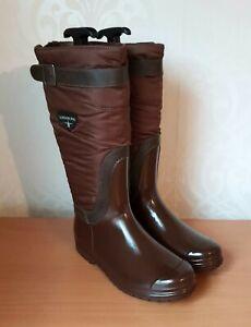LONDON FOG ladies brown wellington fleece lined boots size UK 5EU 38 NEW