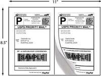 "Premium Best Print ® 200 Labels Half Sheet 8.5 x 5"" 2 Per Sheet  80202100"
