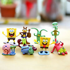 8 PCS SpongeBob Squarepants Action Figure Sets Cartoon Display Figurine Kid Toy