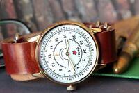 POBEDA Komandirskie Vintage Mens Military watch Mechanical Soviet watches /Gift
