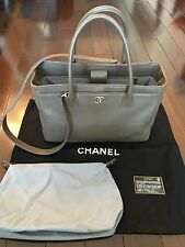 CHANEL Authentic Executive Cerf Tote Bag Toffee Color with Silver Hardware
