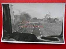 PHOTO  MELTON LANE SIGNAL BOX AND STATION 9/3/82 VIEW FROM CAB
