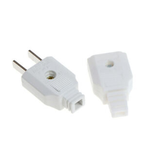 US 2 Flat Pin AC Electric Power Male Plug Female Socket Outlet Adapter W _ TC
