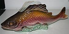 More details for vintage retro belgium bequet quaregnon lustre fish posy vase pot desk tidy 33cm