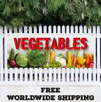 Banner Vinyl VEGETABLES Advertising Sign Flag Produce Farm Market Fresh Organic