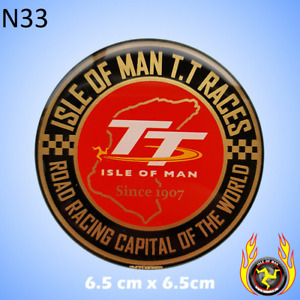 Isle of Man TT Races Road Racing Capital of the World 1907 Gel Badge Sticker RD