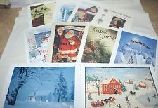 Christmas Cards~10~Cards~10-Different Designs-Traditional Design~#2~Made In USA