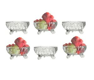 6 x Ice Cream Sundae Glass Footed Dessert Trifle Cocktail Fruit Salad Dishes Cup