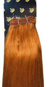MONGOLIAN DOUBLE DRAWN 20'' 150g WEFT HUMAN HAIR EXTENSIONS SHADE #36