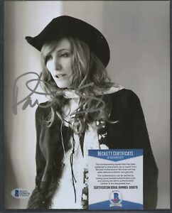 Patti Scialfa (Bruce Springsteen) Signed 8x10 Photo Silver AUTO Beckett BAS COA