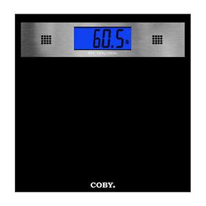 Coby Digital Talking Bathroom Scale with Backlit Display Black