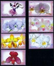 THAILAND 2009 MNH 7v, Orchids, Flowers