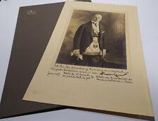 Freimaurer: Foto 1927 Theodore Kemm, Großmeister Großloge New York, Widmung an G