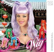 Purple Wig With Bunches Lady Gaga Katy Perry School Girl Fancy Dress