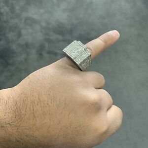 Iced Out Silver 925 Ring Chunky Big *RRP: £150+*