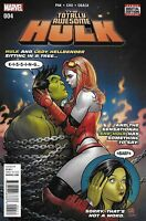 Totally Awesome Hulk Comic Issue 4 Modern Age First Print 2016 Pak Cho Oback