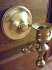 Nautical Brass Candle Holder (For Wall) Vintage, It Tilts Or Adjusts With Motion