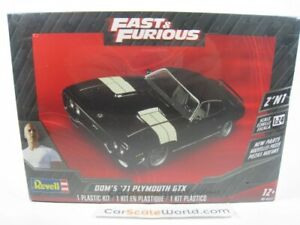 PLYMOUTH GTX 1971 DOMINIC TORETTO FAST AND FURIOUS 1/24 REVELL (KIT ASSEMBLY)
