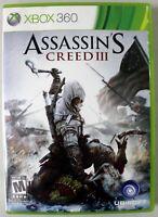 Assassin's Creed III w/ Manual - Microsoft Xbox 360