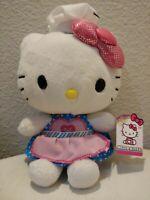 "6"" Just Play Sanrio Hello Kitty Plush Chef Stuffed Toy Pink Bow Pink BlueTuTu"