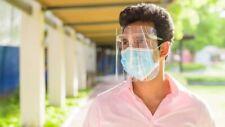 10 Pcs Safety Transparent Clear PET Anti-Fog Anti-Saliva Face Shield Faceshield